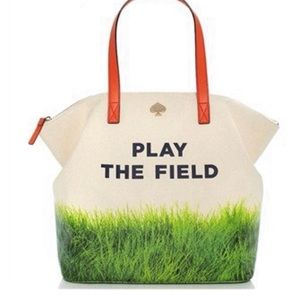 Kate Spade Play the Field canvas tote